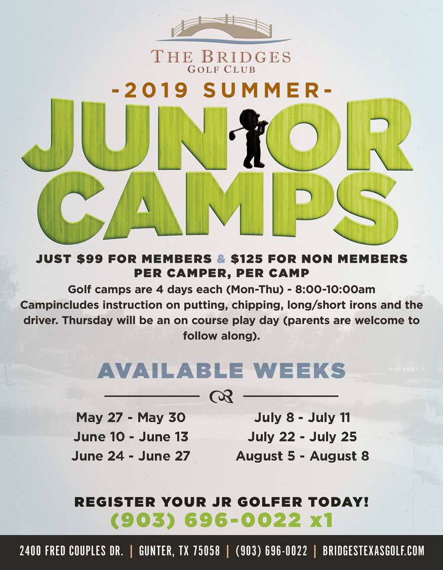 2019 The Bridges Junior Camp Flyer